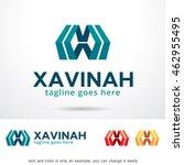 letter x logo template design... | Shutterstock .eps vector #462955495