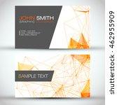 white and orange modern... | Shutterstock .eps vector #462955909