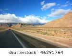 empty road somewhere in arizona ... | Shutterstock . vector #46295764