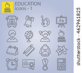 web line set. education  school  | Shutterstock .eps vector #462961825