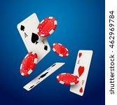 casino poker design template.... | Shutterstock .eps vector #462969784