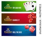 casino banner gambling set.... | Shutterstock .eps vector #462969811