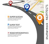 road map city infographic with... | Shutterstock .eps vector #462970171
