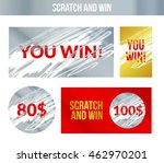 scratch and win labels card.... | Shutterstock .eps vector #462970201