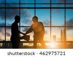 silhouette heavy industry... | Shutterstock . vector #462975721