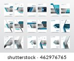 collection of blue brochure... | Shutterstock .eps vector #462976765