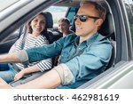 family into the car | Shutterstock . vector #462981619
