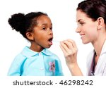 smiling doctor taking little... | Shutterstock . vector #46298242