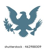 eagle american symbol icon... | Shutterstock .eps vector #462988309