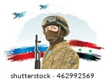 russian special forces soldier... | Shutterstock .eps vector #462992569