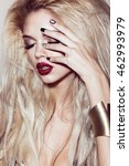 beautiful sexy blonde girl with ... | Shutterstock . vector #462993979