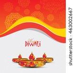 diwali festival template design ... | Shutterstock .eps vector #463002667