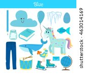 blue. learn the color.... | Shutterstock .eps vector #463014169
