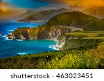 big sur coast at the bixby... | Shutterstock . vector #463023451