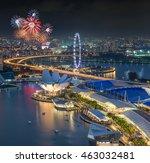 Singapore City Skyline Aerial...