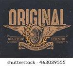 vintage college. custom... | Shutterstock .eps vector #463039555