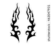 tattoo tribal lower back vector.... | Shutterstock .eps vector #463047931