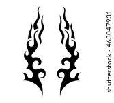 tattoo tribal lower back vector.... | Shutterstock .eps vector #463047931
