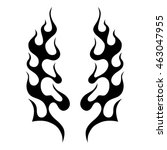 flame tattoo tribal sketch.... | Shutterstock .eps vector #463047955