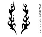 black tribal flames for tattoo... | Shutterstock .eps vector #463047961