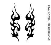 black tribal flames for tattoo... | Shutterstock .eps vector #463047985