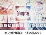 business enterprise collage...   Shutterstock . vector #463053019