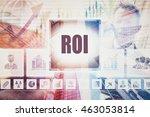 business return on investment...   Shutterstock . vector #463053814