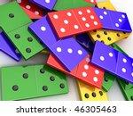 scattered colored shiny bones... | Shutterstock . vector #46305463