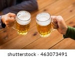 people  leisure and drinks... | Shutterstock . vector #463073491