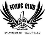 flying club john smith abstract ... | Shutterstock .eps vector #463074169