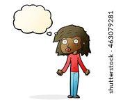 cartoon girl shrugging... | Shutterstock . vector #463079281
