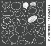 different sketch style speech... | Shutterstock .eps vector #463082581