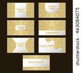 business card. vintage... | Shutterstock .eps vector #463084075