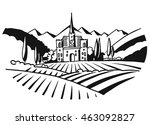 vineyard illustration... | Shutterstock .eps vector #463092827