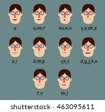 phoneme mouth shapes | Shutterstock .eps vector #463095611