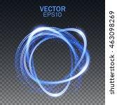 glow light effect. magic round... | Shutterstock .eps vector #463098269