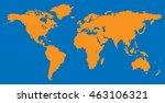 world map blank vector... | Shutterstock .eps vector #463106321