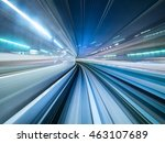 motion blur of train moving... | Shutterstock . vector #463107689
