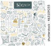 science stuff doodle set.... | Shutterstock .eps vector #463109255