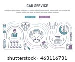 flat line illustration of car... | Shutterstock .eps vector #463116731