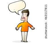 cartoon terrified man with... | Shutterstock . vector #463117811