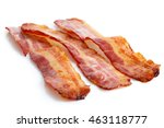 three strips of fried crispy... | Shutterstock . vector #463118777