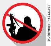 stop terrorism. terrorism is... | Shutterstock .eps vector #463121987