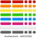 blank web buttons. vector... | Shutterstock .eps vector #46312336