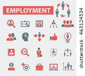 employment icons | Shutterstock .eps vector #463124534