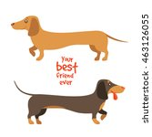 your best friend ever. vector... | Shutterstock .eps vector #463126055