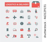 logistics  delivery icons | Shutterstock .eps vector #463129151