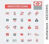 investor icons | Shutterstock .eps vector #463133441