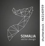 somalia black vector contour map | Shutterstock .eps vector #463140959