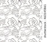 Vector Pattern. Flowers  Hat ...